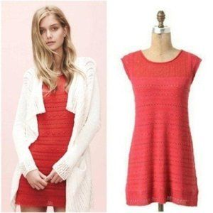 Guinevere Knit Mini Dress Coral Pink S